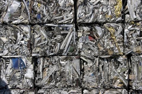 Recycling aluminum cubes
